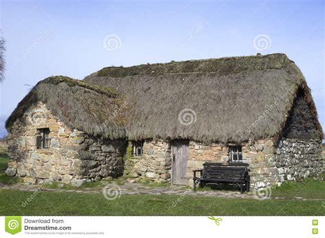 cottage scozia culloden cottage scotland editorial stock photo image