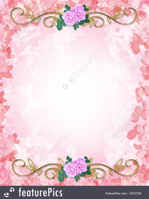 Celebration Wedding Invitation Template Roses Stock Illustration I2247240 At Featurepics Birthday Invitation Background Templates