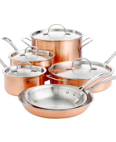 copper cookware set calphalon tri ply copper 10 cookware set