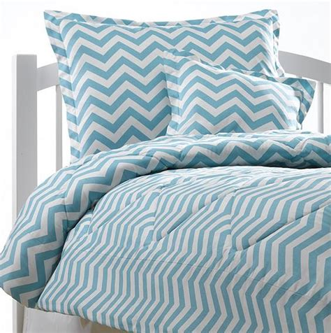 blue chevron bedding set american made