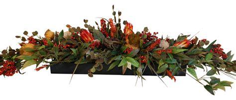 Floral Arrangements For Dining Room Tables long low floral centerpiece rustic artificial flower