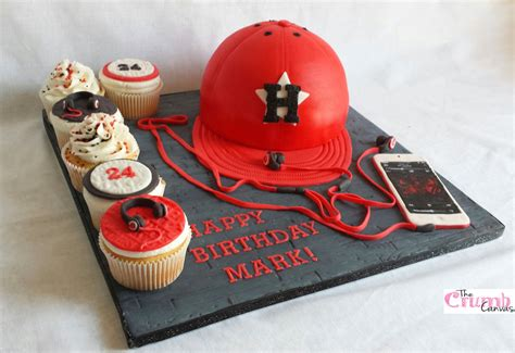 Ee  Houston Ee   Astros Cap Cake With Ipod Th Gene Ion And Beats