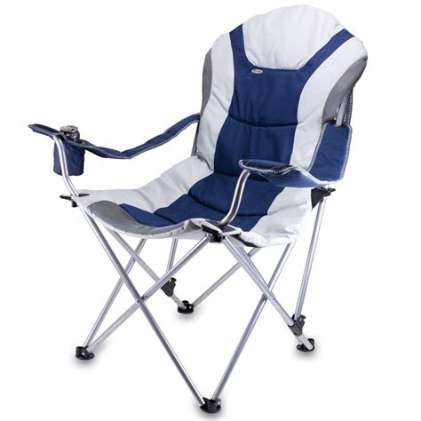 folding recliners reclining c chair navy picnic time 803 00 138