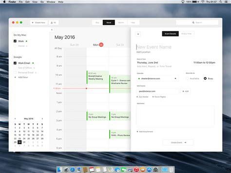 Design App Desktop | mac calendar desktop app design exercise uplabs