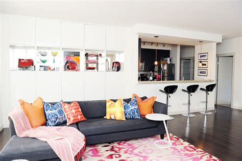 eclectic modern living room colourful modern eclectic great room eclectic living