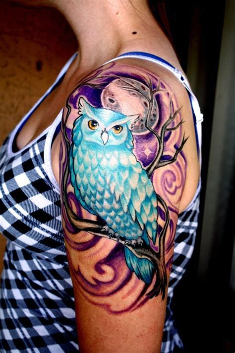 colorful half sleeve tattoo designs unique owl tattoos for designs piercing
