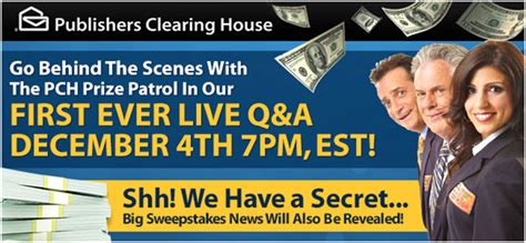Pch Prize Patrol Live - join us for a live q a with the pch prize patrol december 4th pch blog