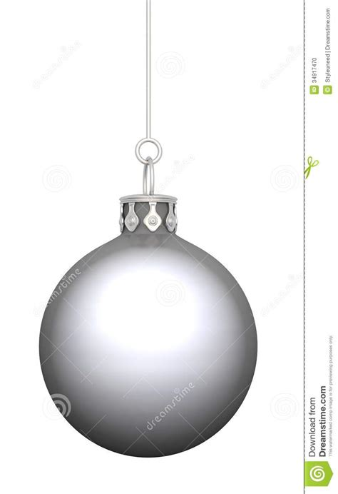 silver christmas bauble stock photo image 34917470
