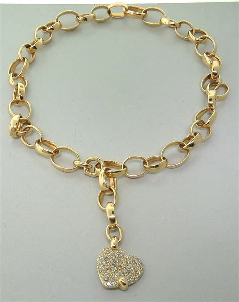 pomellato jewelry pomellato sabbia gold charm necklace at 1stdibs