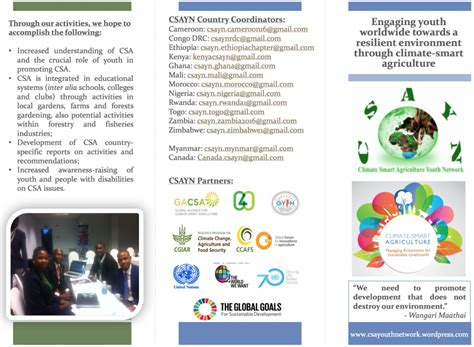 Youth4climate Engages Young People With Climate Action At Cop22 Connect4climate Climate Change Brochure Template