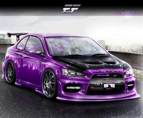 mitsubishi purple mitsubishi lancer evolution coming back king xtreme racing