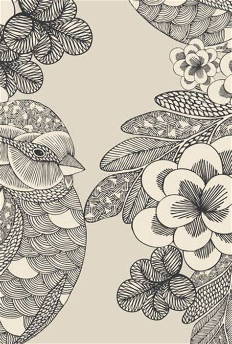pattern bird art millie marotta zentangle pinterest patterns birds