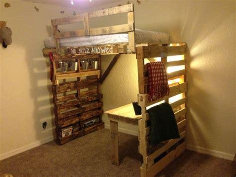 pallet loft bed astonishing ideas for pallet loft bunk beds wood
