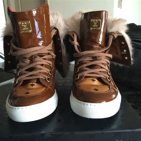mcm kid shoes 20 mcm shoes s mcm fur high tops size 7 from