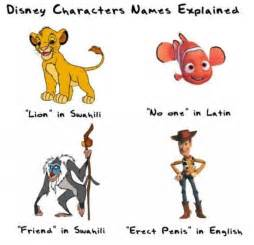 Couple disney character names explained funny pictures quotes
