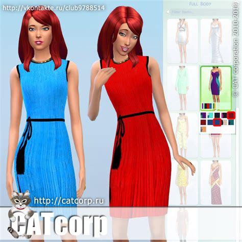 sims 4 custom content dresses silk dress sims 4 custom content