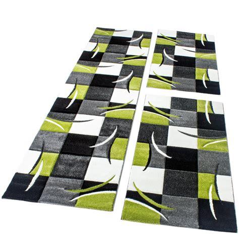 teppich laeufer modern bettumrandung l 228 ufer teppich modern karo gr 252 n grau schwarz