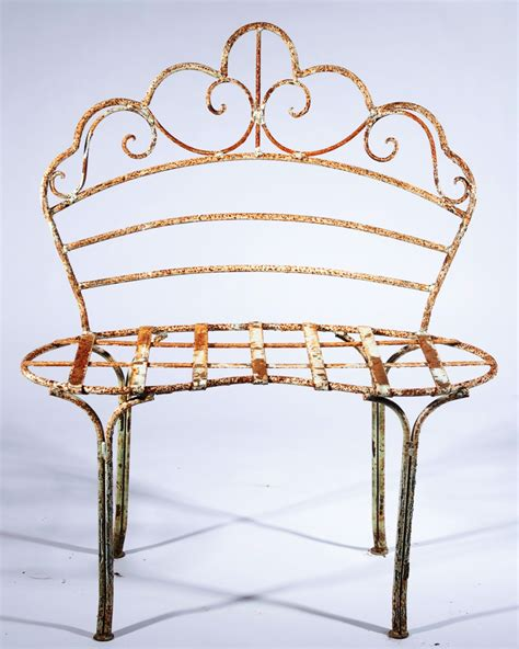 rod iron benches wrought iron kidney bench