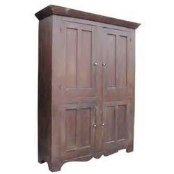Family Cupboard 4 door family cupboard w chamfered doors oxblood paint 76 quot h
