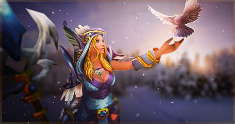 dota 2 rylai wallpaper crystal maiden wallpaper wallpapersafari