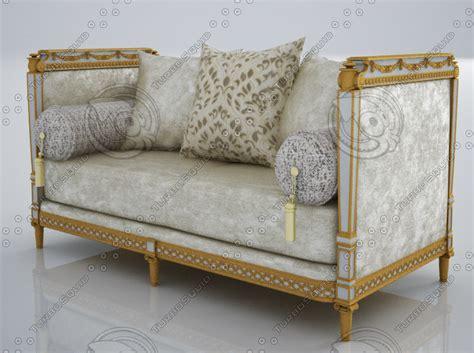 antoinette sofa 3d model marie antoinette 2 seater sofa