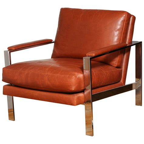 milo chair milo baughman leather and chrome chair at 1stdibs