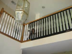 Black Staircase Banister Painting A Can Do It