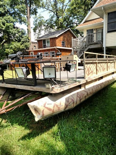 duck boats for sale michigan 20 pontoon duck blind bowfishing boat michigan