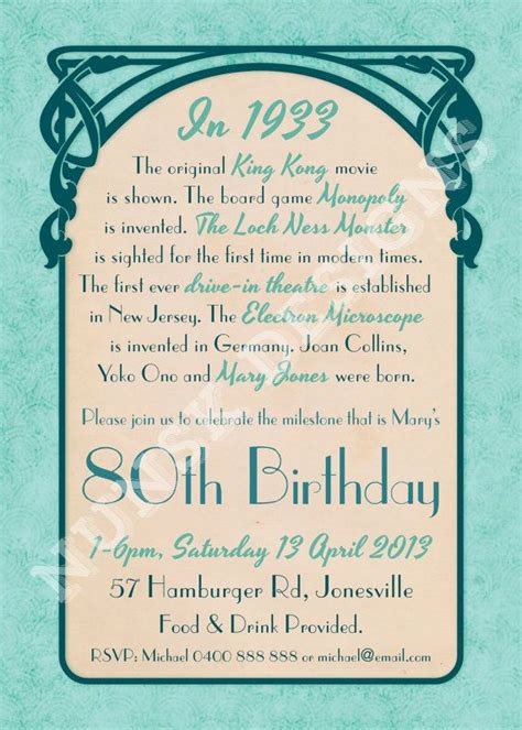 80th Birthday Quotes Quotes For 80th Birthday Invitations Quotesgram