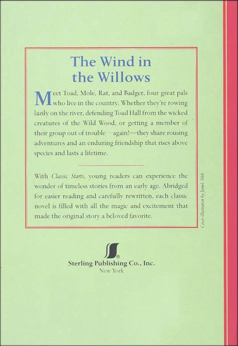 Classic Starts In wind in the willows classic starts 039931 details