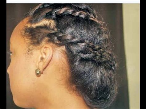 cute protective hairstyle  transitioning hair youtube