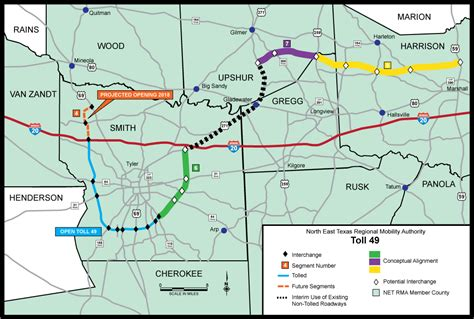 texas toll road map toll 49 and ethg netrma