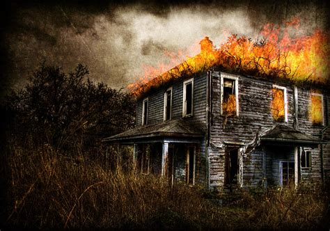 house burning burning house digital art by ryan shaffer