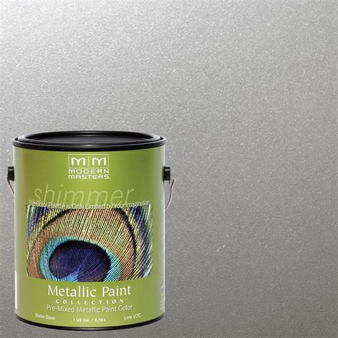 Metallic Gold Interior Paint by Modern Masters 1 Gal Silver Metallic Interior Exterior Paint Me150gal The Home Depot
