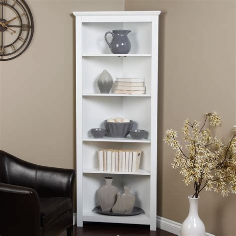Redford White Corner Bookcase Redford White Corner Bookcase Other Gift Supplies
