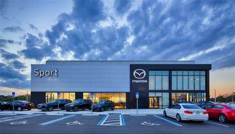mazda dealership sport mazda look completed project