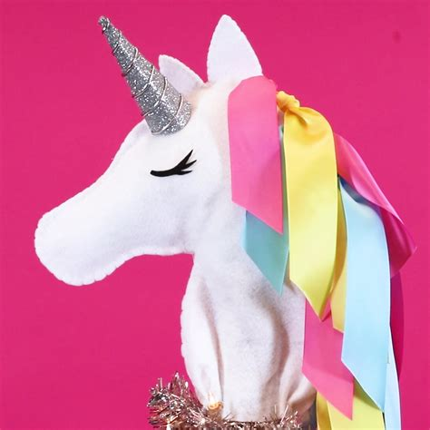 unicorn tree topper this unicorn tree topper is the diy magic your tree needs this year hellogiggles