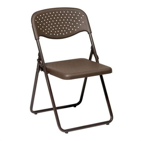 Folding Chairs Set Of 4 by Set Of 4 Plastic Folding Chair In Mocha Fc8000nb 1