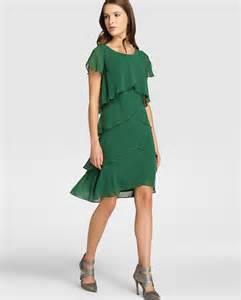 Vestido de mujer fiesta el corte ingl 233 s con capas en color verde