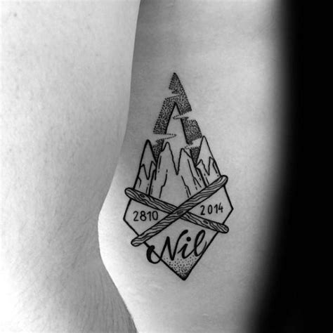 skiing tattoos 60 skiing tattoos for a gondola lift to design ideas