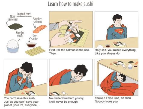 How To Create A Meme - how to make sushi superman version how to make sushi
