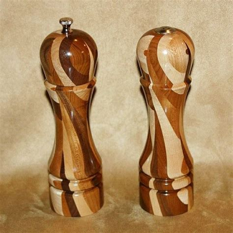 Handmade Wooden Pepper Mills - handmade custom made salt and pepper mills by carolina