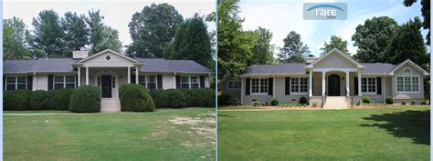 exterior remodel before and after home design