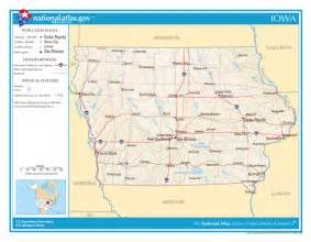 Map Of The State Of Iowa by Large Detailed Map Of Iowa State Iowa State Large