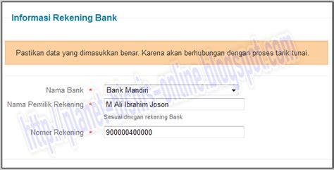 persaratan membuat rekening mandiri cara membuat rekening mandiri online alat pembayaran
