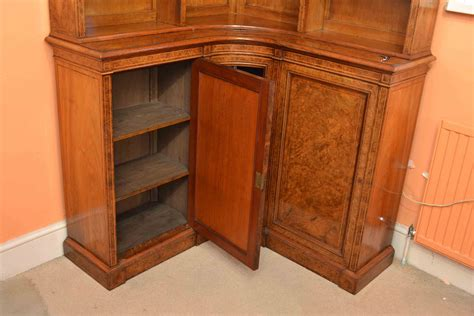 Walnut Corner Bookcase Regent Antiques Bookcases And Display Cabinets Antique Burr Walnut Corner Bookcase