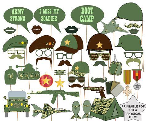 printable army photo booth props ej 233 rcito photo booth props apoyos militares