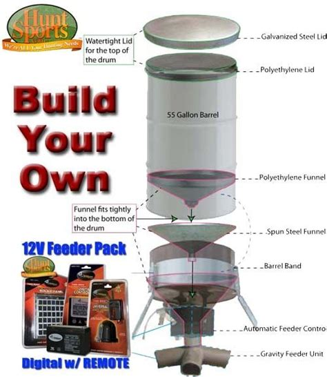 How To Make Your Own Deer Feeder build your deer own deer blinds floating fish feeders trailers sports outdoors