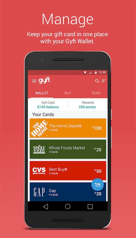 Google Play Gift Card Google Wallet - gyft mobile gift card wallet android apps on google play