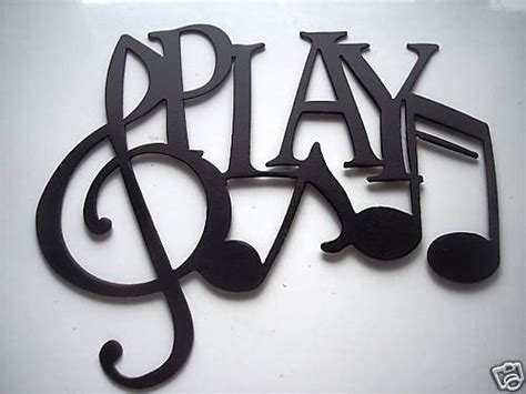 music decor play word with notes metal wall art music by sayitallonthewall